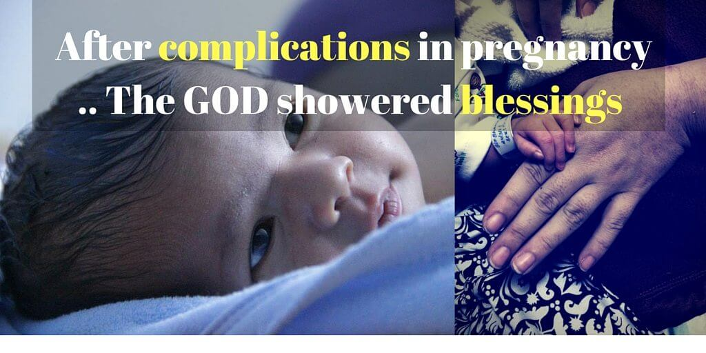 Complications in pregnancy, two miscarriages, and mother at age 35