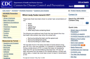 CDC on HIV