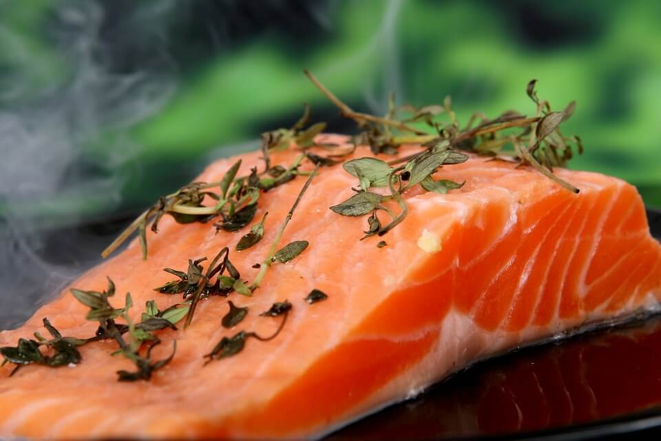 Salmon to increase breast milk