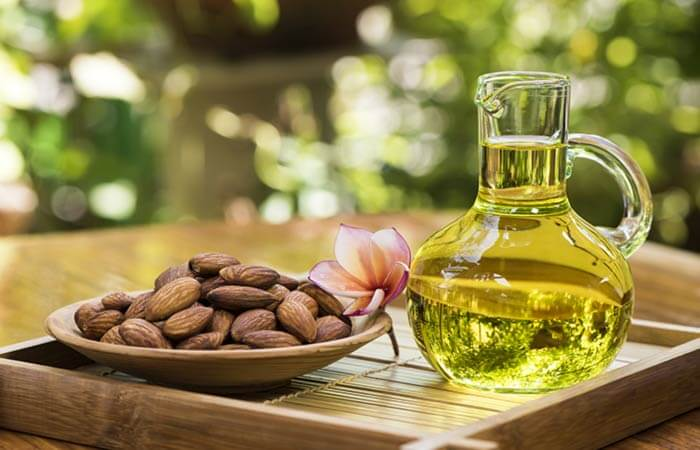 Almond oil for baby massage