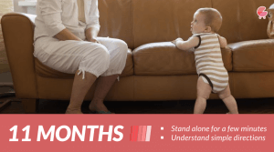 Stand alone for a few minutes - Baby Milestones