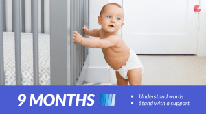 Stand with a support - Baby Milestones