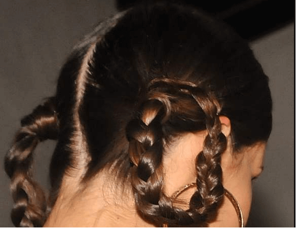 Loop Pigtails hairstyle for girls