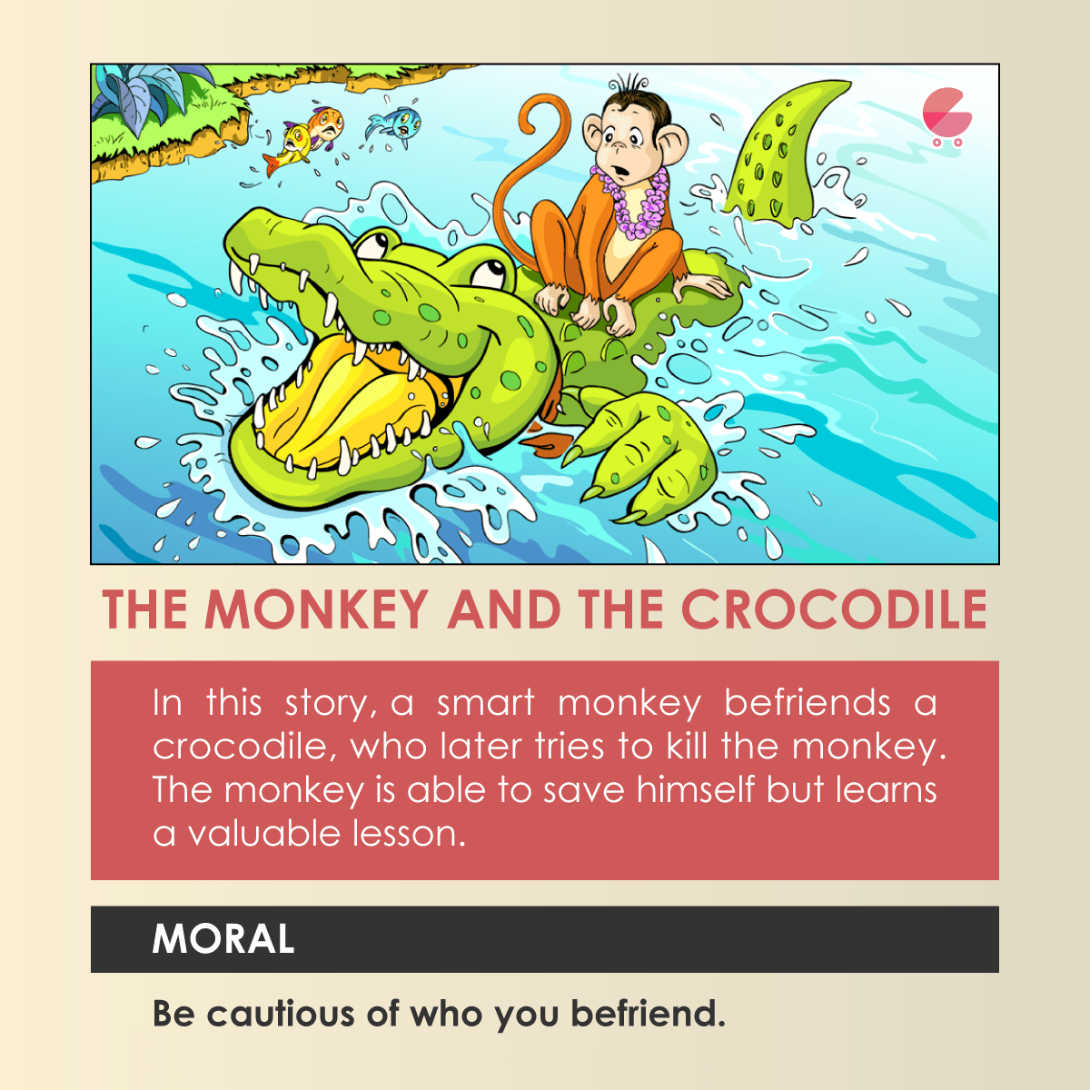 Story of the monkey and the crocodile