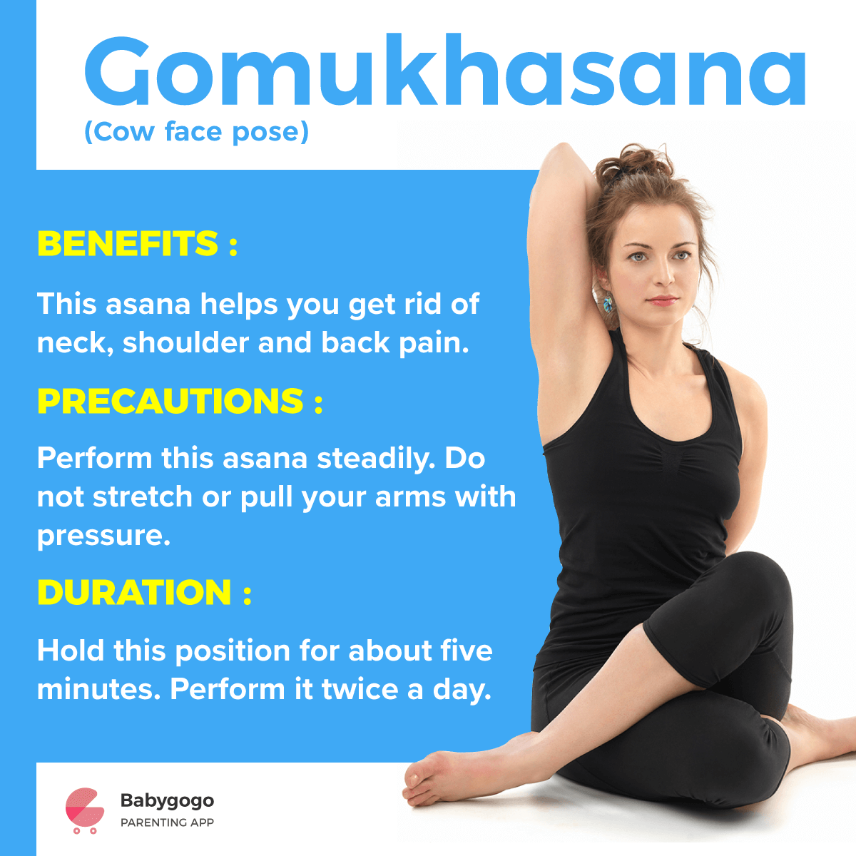 Gomukhasana - Yoga Exercise