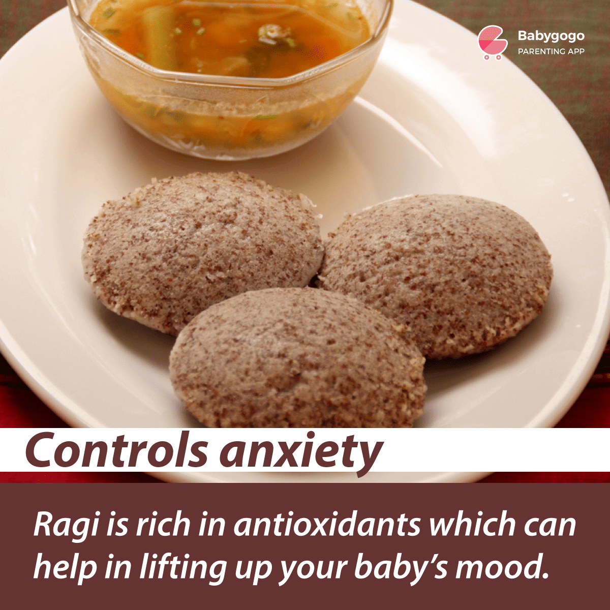 Ragi controls anxiety in babies