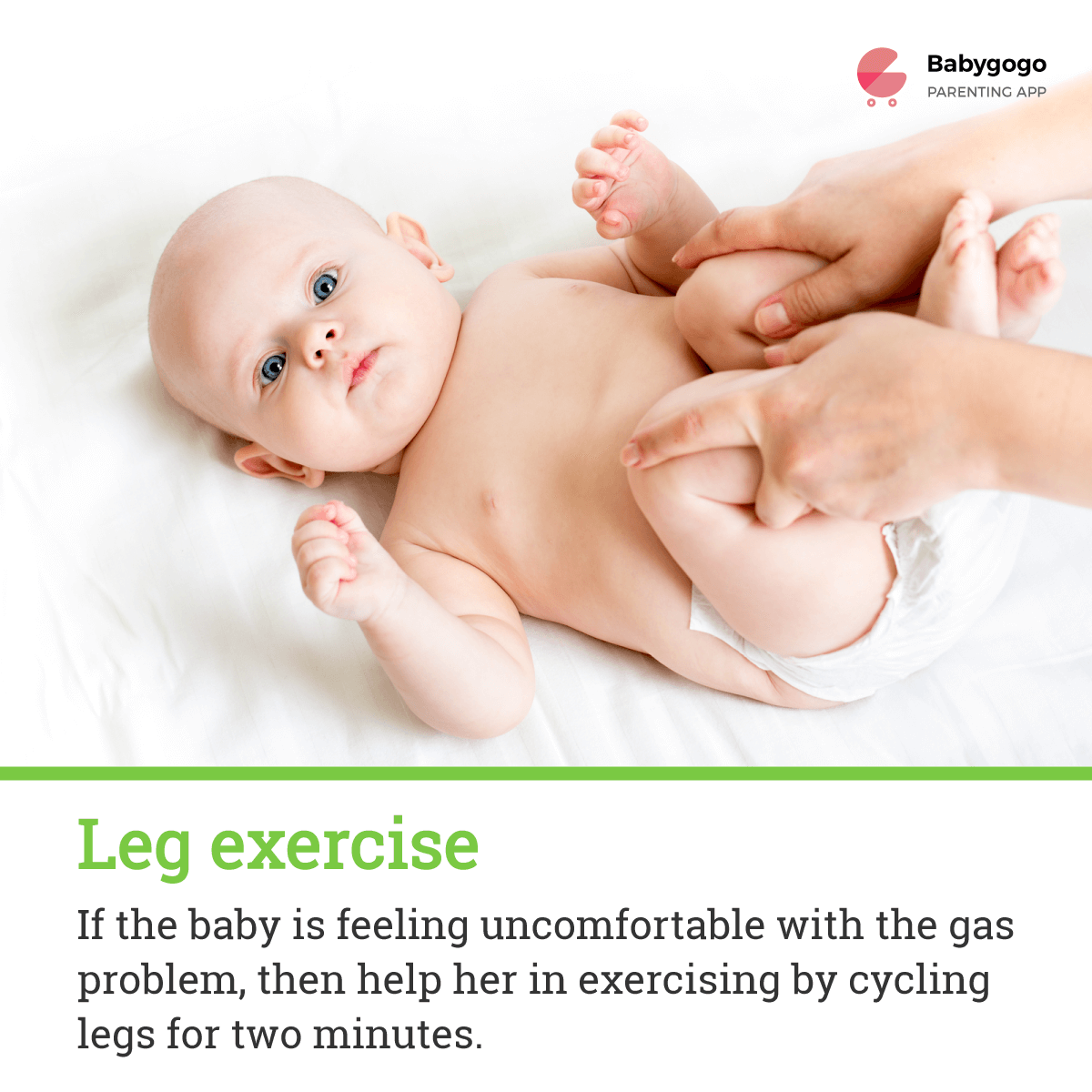 leg exercise for gas pain in babies