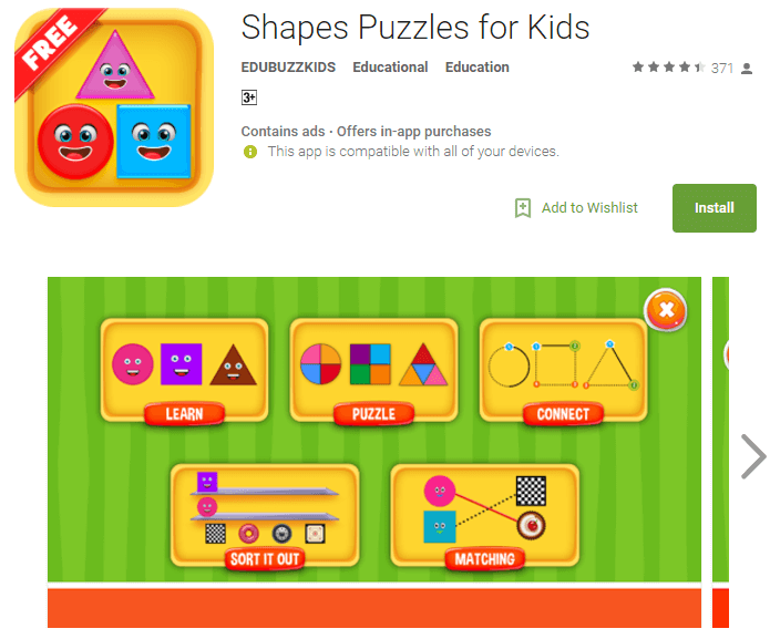 shapes puzzles game for baby girls