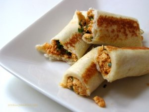 Bread Paneer Roll for kids