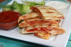 Pepperoni Pizza Quesadillas for kids