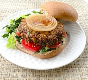 Lentil and Mushroom Burgers for kids