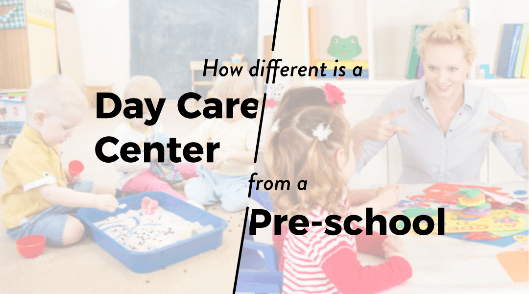 difference between daycare centre and preschool
