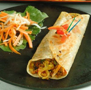 Vegetable Kathi Rolls for kids