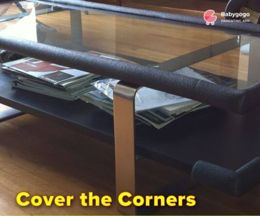 Cover the corners to keep baby safe at home