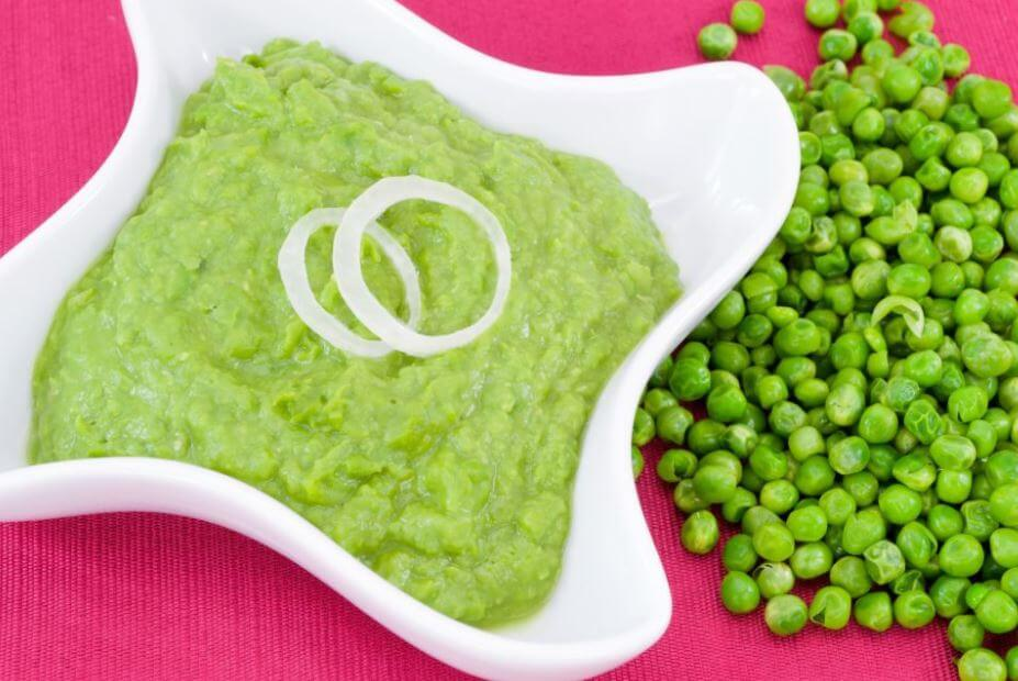 Green pea puree for babies