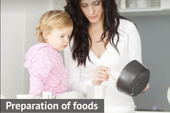 preparation of foods for baby