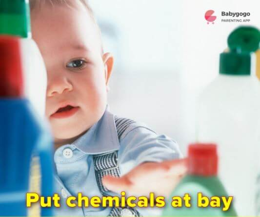 put chemicals at bay to keep baby safe at home