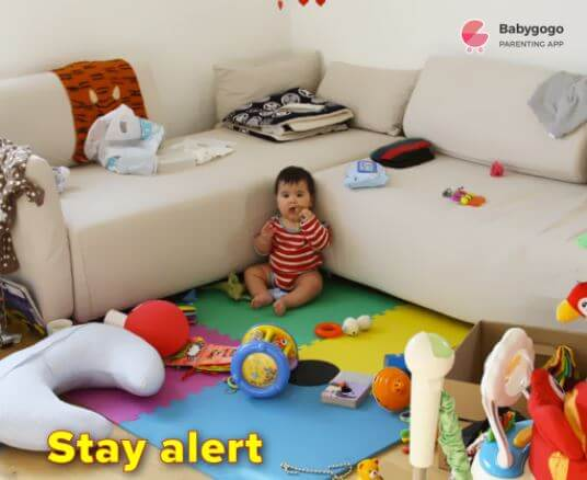 stay alert to keep baby safe at home