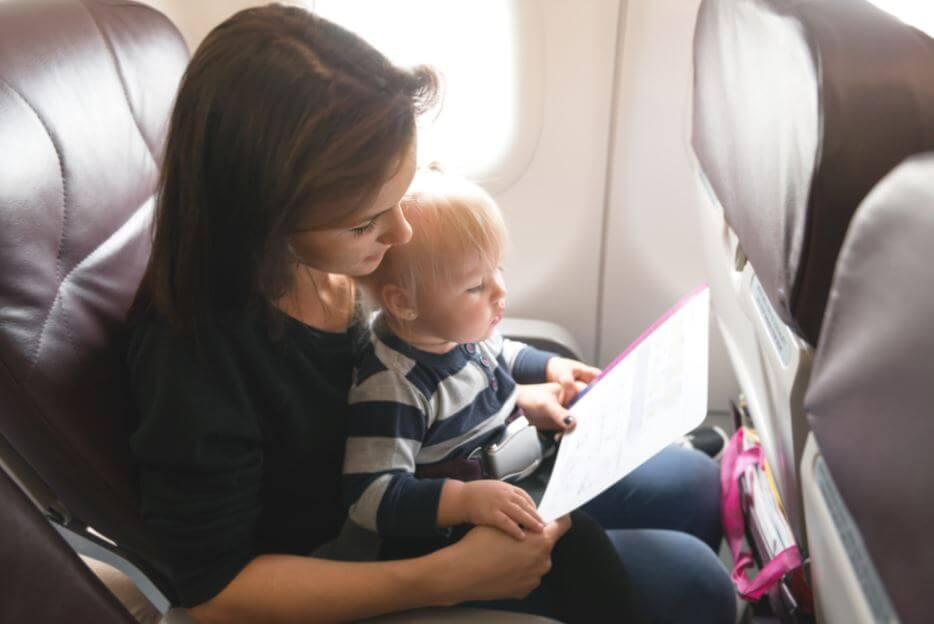tips for traveling with baby by airplane