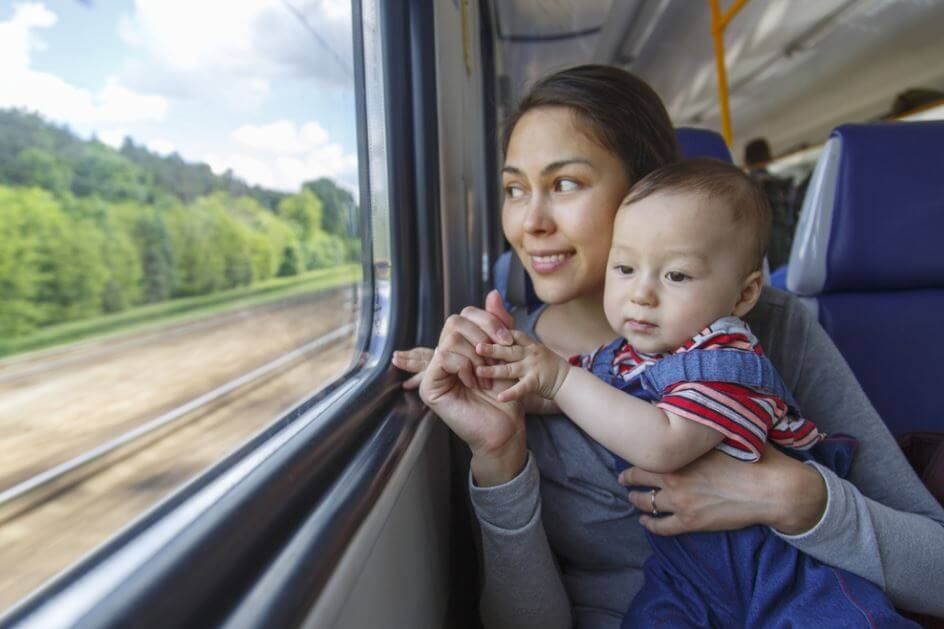 traveling with baby by train