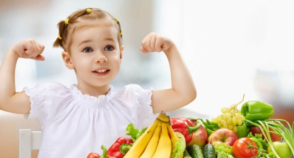 eating vegetables makes kids healthy